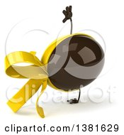Clipart Of A 3d Chocolate Easter Egg Character On A White Background Royalty Free Illustration
