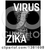 Clipart Of A White Zika Virus Word Tag Collage Over Black Royalty Free Illustration by MacX