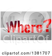 Clipart Of Gradient Red Where Text Over Gray Royalty Free Illustration