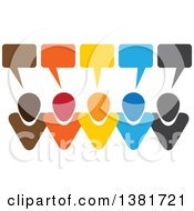 Clipart Of A Colorful Group Of People With Speech Balloons Royalty Free Vector Illustration by ColorMagic