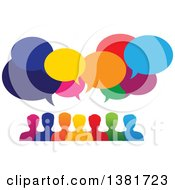 Colorful Group Of People With Speech Balloons