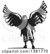 Clipart Of A Craftsman Artist And Inventor Daedalus From Greek Mythology Wearing Wings Royalty Free Vector Illustration