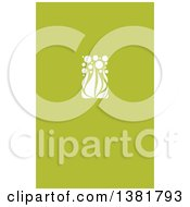 Flat Design White Allium Floral Wedding Design On Green
