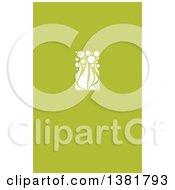 Flat Design White Allium Floral Wedding Design On Green