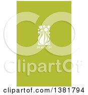 Flat Design White Allium Floral RSVP Wedding Design On Green