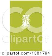Flat Design White Allium Floral RSVP Wedding Design On Green