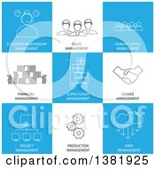 Clipart Of Management Icons With Text Royalty Free Vector Illustration