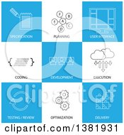 Clipart Of Business Icons With Text Royalty Free Vector Illustration