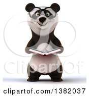 Clipart Of A 3d Panda On A White Background Royalty Free Illustration