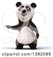 Clipart Of A 3d Panda On A White Background Royalty Free Illustration by Julos