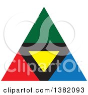 Clipart Of A Colorful Pyramid Royalty Free Vector Illustration