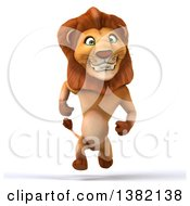 Clipart Of A 3d Male Lion On A White Background Royalty Free Illustration by Julos
