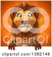 3d Male Lion Over Rays