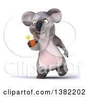 Poster, Art Print Of 3d Koala On A White Background