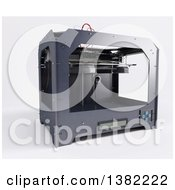 3d Printer On A White Background