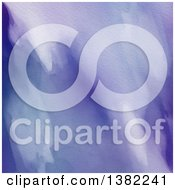 Clipart Of A Purple Watercolor Background Royalty Free Illustration by KJ Pargeter
