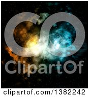 Clipart Of A Colorful Nebula In Outer Space Royalty Free Illustration