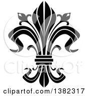 Clipart Of A Black And White Fleur De Lis Royalty Free Vector Illustration by Vector Tradition SM