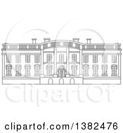 Clipart Of A Gray Sketch Of The White House Royalty Free Vector Illustration by Vector Tradition SM