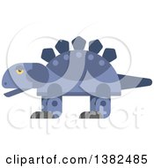 Clipart Of A Robotic Styled Purple Stegosaurus Dinosaur Royalty Free Vector Illustration