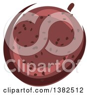 Clipart Of A Passion Fruit Royalty Free Vector Illustration