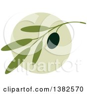 Clipart Of A Black Olive Design Royalty Free Vector Illustration by elena