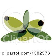 Clipart Of A Green Olive Design Royalty Free Vector Illustration by elena