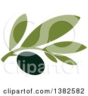 Clipart Of A Black Olive Design Royalty Free Vector Illustration