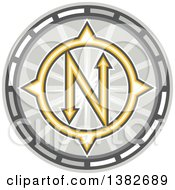Clipart Of A True North Compass Royalty Free Vector Illustration by patrimonio