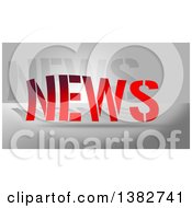 Clipart Of Gradient Red NEWS Text Over Gray Royalty Free Illustration