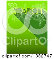 Clipart Of A Yellow And White SEO Word Tag Collage On Green Royalty Free Illustration by MacX