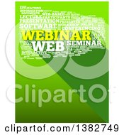 Clipart Of A Yellow And White Webinar Word Tag Collage Over Green With A Shadow Royalty Free Illustration