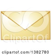 Clipart Of A Golden Envelope Royalty Free Vector Illustration