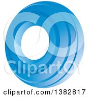 3d Abstract Blue Oval Icon