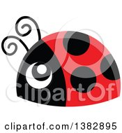 Clipart Of A Cute Happy Ladybug Royalty Free Vector Illustration by visekart