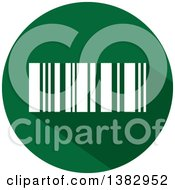 Clipart Of A Flat Design Round Bar Code Icon Royalty Free Vector Illustration