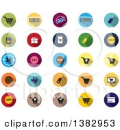 Flat Design Retail Icons