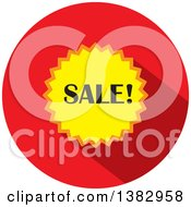Flat Design Round Sale Icon