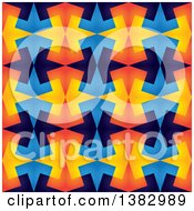 Clipart Of A Colorful Abstract Kaleidoscope Background Royalty Free Vector Illustration