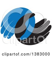 Poster, Art Print Of Blue And Black Hands