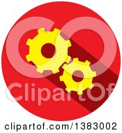 Flat Design Round Gear Icon