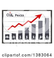 Clipart Of A Bar Graph Showing An Increase In Oil Prices Royalty Free Vector Illustration by Hit Toon