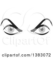 Clipart Of A Pair Of Angry Gray Eyes Royalty Free Vector Illustration by Johnny Sajem