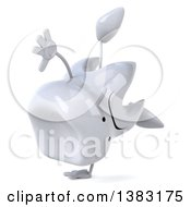 Clipart Of A 3d Unhappy Tooth Character On A White Background Royalty Free Illustration