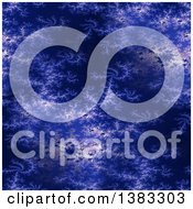 Clipart Of A Dark Blue Fractal Background Royalty Free Illustration