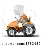 Clipart Of A 3d Robin Operating A Tractor On A White Background Royalty Free Illustration