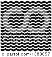 Clipart Of A Background Of Black And White Ink Or Watercolor Zig Zags Royalty Free Vector Illustration