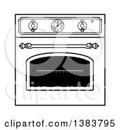 Black And White Vintage Kitchen Wall Oven