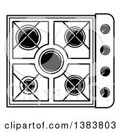 Black And White Kitchen Stove Hob Cook Top