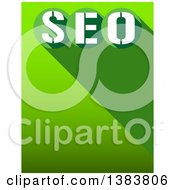 Clipart Of A Green Seo Background With A Shadow And Text Space Royalty Free Illustration